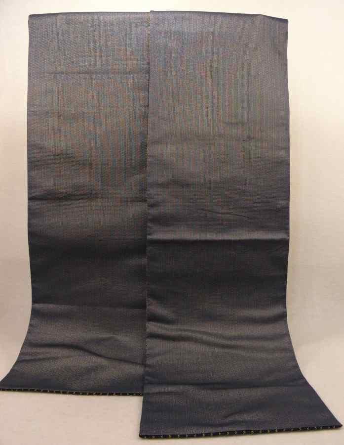 【帯喜楽】マ5-13●高級袋帯●未使用品●両面仕様●縦縞に透かし段縞柄_裏も使用できます