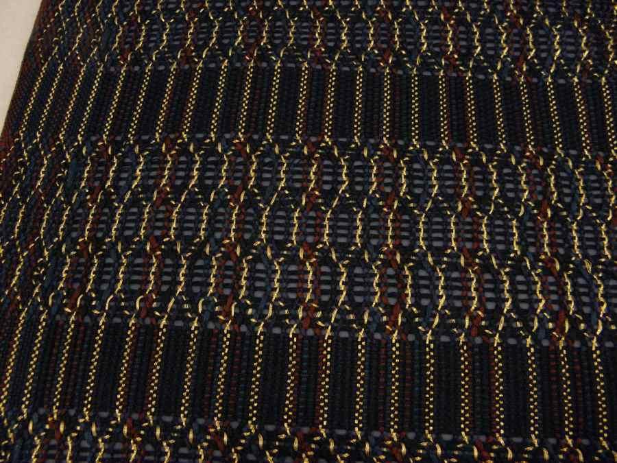【帯喜楽】マ5-13●高級袋帯●未使用品●両面仕様●縦縞に透かし段縞柄_画像4