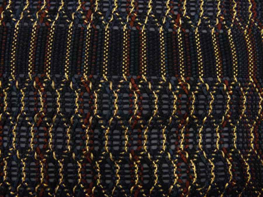 【帯喜楽】マ5-13●高級袋帯●未使用品●両面仕様●縦縞に透かし段縞柄_画像6