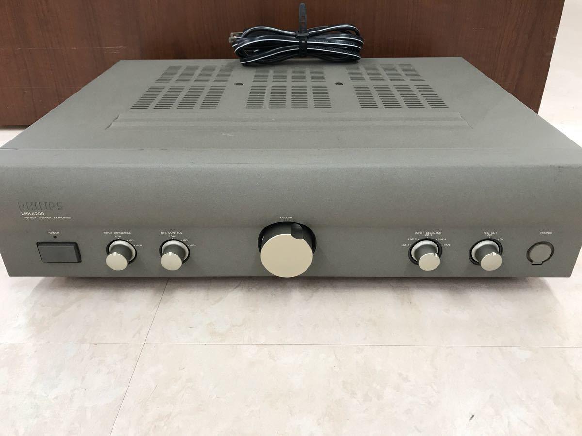 ジャンク PHILIPS フィリップス LHH A200 プリメインアンプ 電源入りません