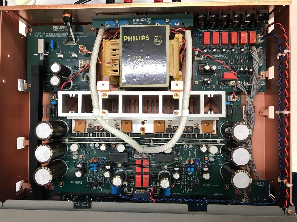 ジャンク PHILIPS フィリップス LHH A200 プリメインアンプ 電源入りません_画像9