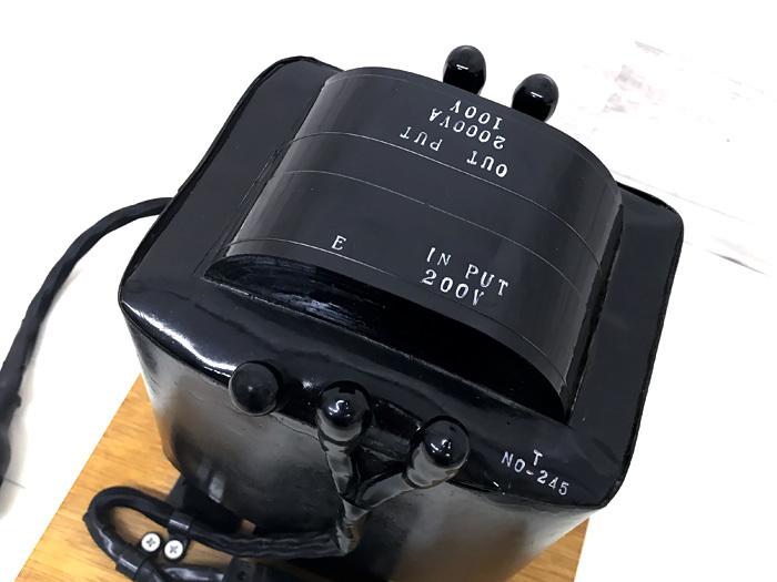 ▲オヤイデ電気 CS-2000TT 200V-100V ステップダウントランス▲_画像3