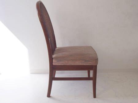 カリモク ダイニング チェア 木製 椅子 オリエンタル インテリア 什器 古道具  昭和 レトロ ブロカント_画像5