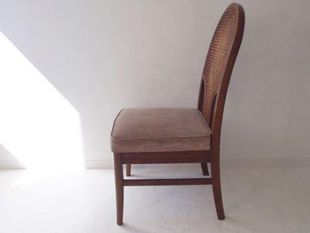 カリモク ダイニング チェア 木製 椅子 オリエンタル インテリア 什器 古道具  昭和 レトロ ブロカント_画像4
