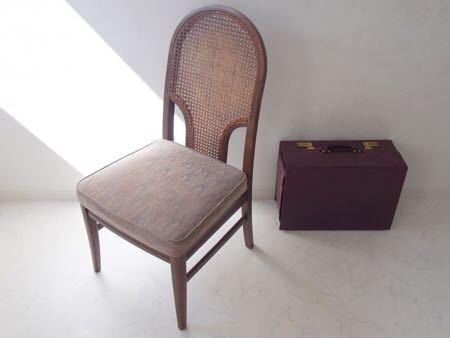 カリモク ダイニング チェア 木製 椅子 オリエンタル インテリア 什器 古道具  昭和 レトロ ブロカント_画像10