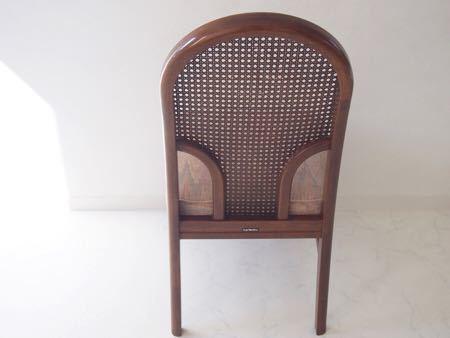 カリモク ダイニング チェア 木製 椅子 オリエンタル インテリア 什器 古道具  昭和 レトロ ブロカント_画像2