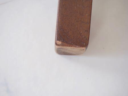 カリモク ダイニング チェア 木製 椅子 オリエンタル インテリア 什器 古道具  昭和 レトロ ブロカント_画像9