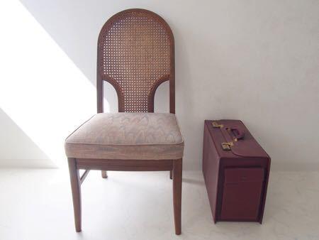 カリモク ダイニング チェア 木製 椅子 オリエンタル インテリア 什器 古道具  昭和 レトロ ブロカント_画像1