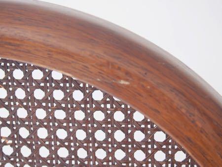 カリモク ダイニング チェア 木製 椅子 オリエンタル インテリア 什器 古道具  昭和 レトロ ブロカント_画像8