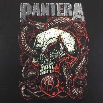 両面プリントバンドデザイン半袖Tシャツ パンテラ PANTERA XLサイズ①SR2C3