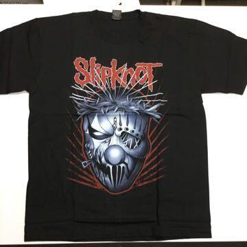 両面プリントバンドデザイン半袖Tシャツ スリップノット SlipknoT Lサイズ③ SR3B1