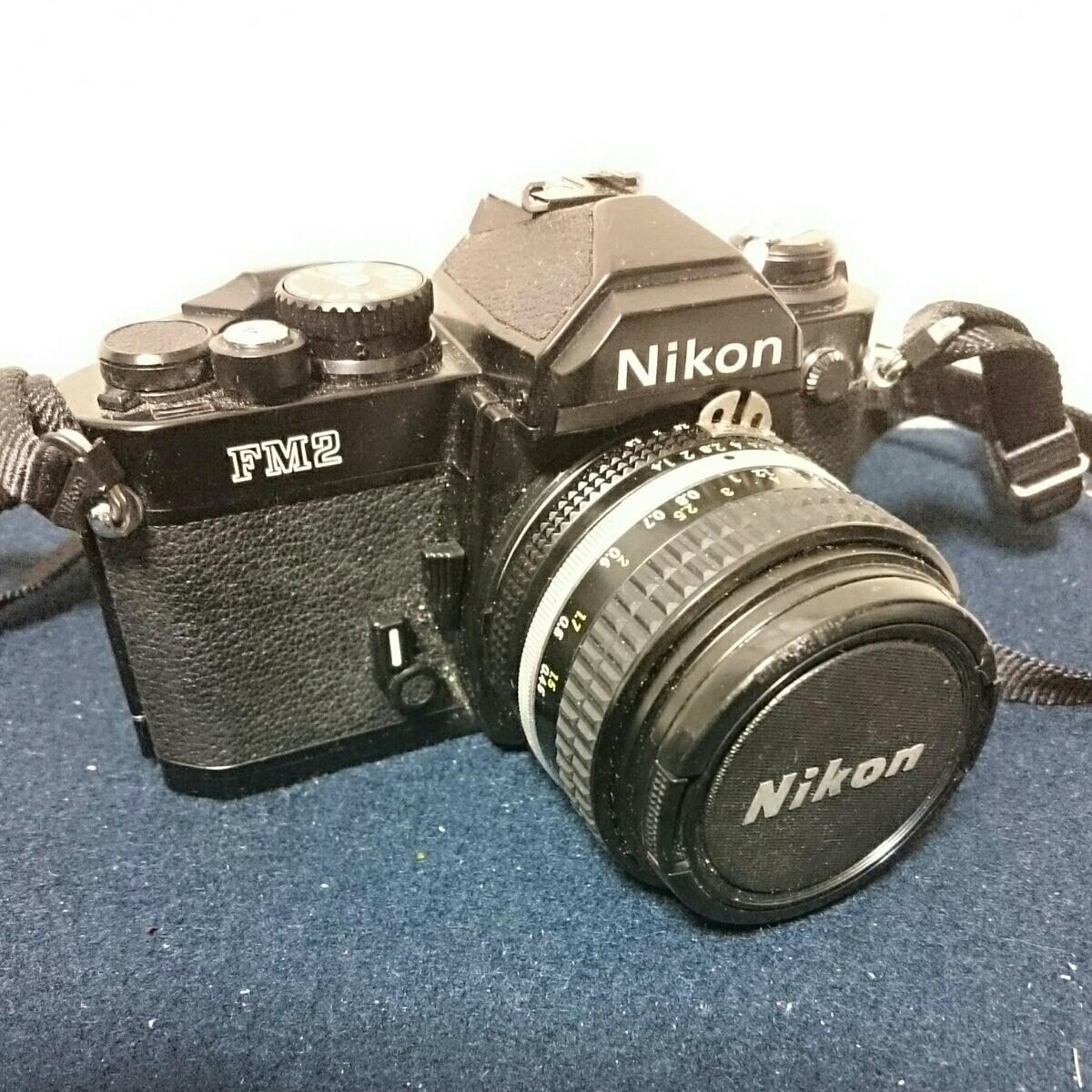 Nikon FM2 ブラックボディ ニコン 一眼レフカメラ 動作未確認 ケース傷みあり_画像2