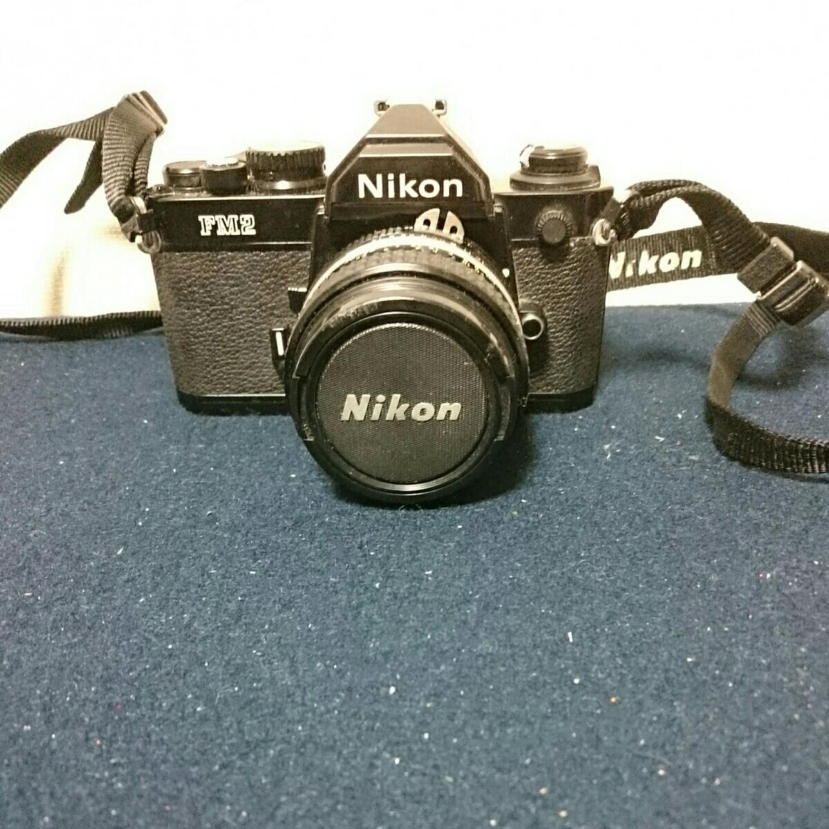 Nikon FM2 ブラックボディ ニコン 一眼レフカメラ 動作未確認 ケース傷みあり