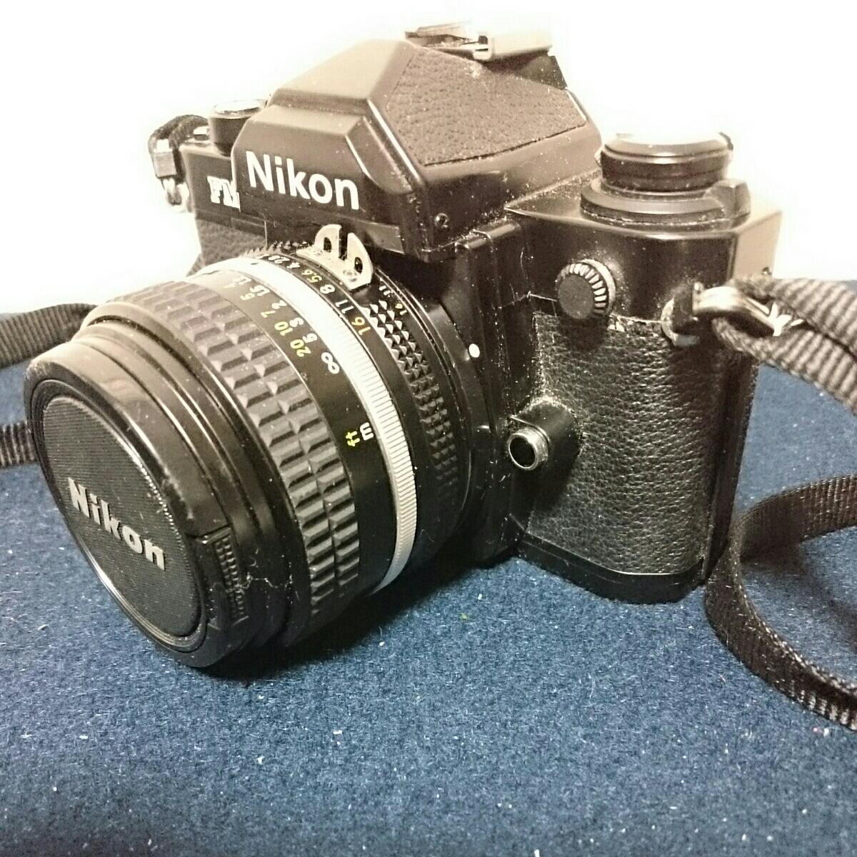 Nikon FM2 ブラックボディ ニコン 一眼レフカメラ 動作未確認 ケース傷みあり_画像3