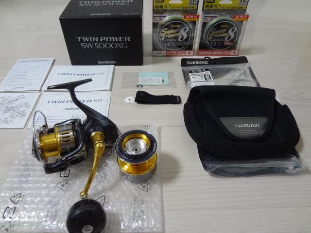 8cc1c20aea5 Shimano 15* Twin power SW 5000XG gorgeous set 6000 number change  spool,shinano