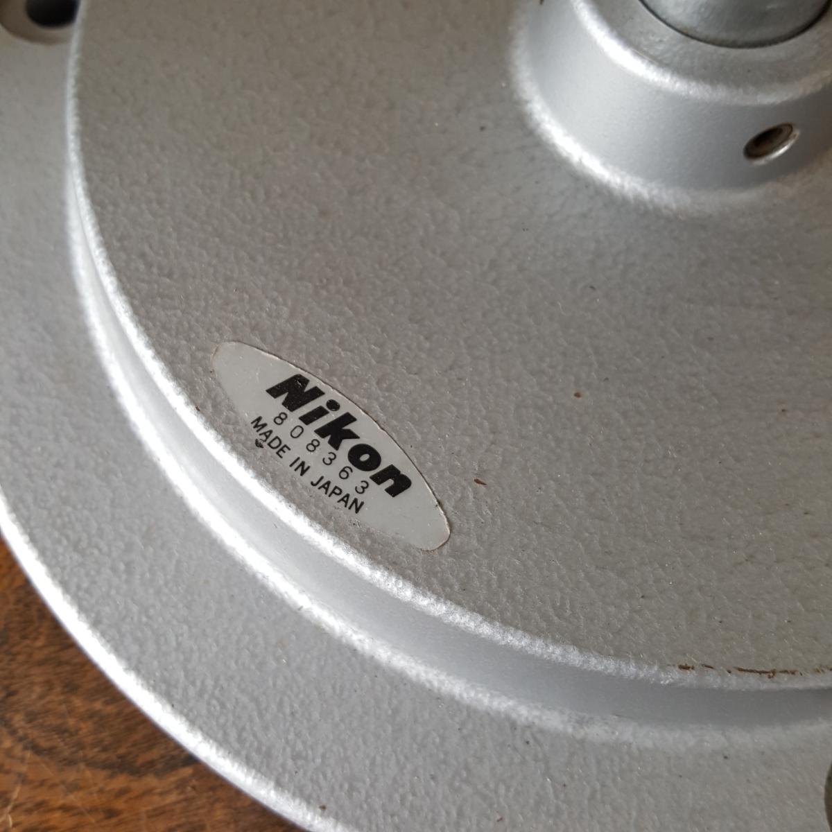 NIKON 実体顕微鏡 レンズ N10x SEIKO 日本製 検査 精密 機器 病院 歯科 顕微鏡 計器 接眼 双眼 ニコン セイコー スタンド 台座 中古 現状 _画像4