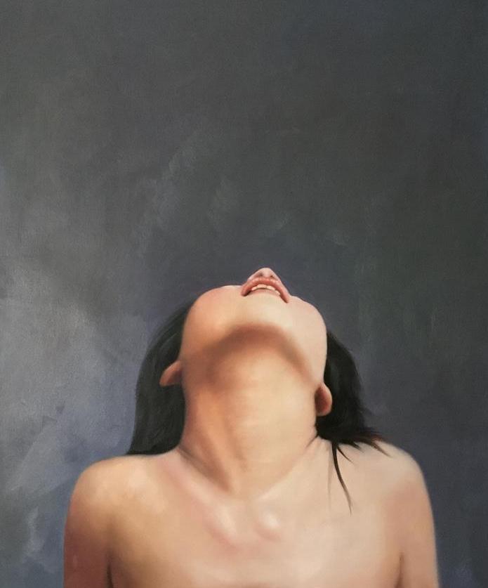 ◆Modern Art◆肉筆☆油絵☆『②等身大の裸婦/紗枝』F20サイズ縦描き上下2枚_画像1