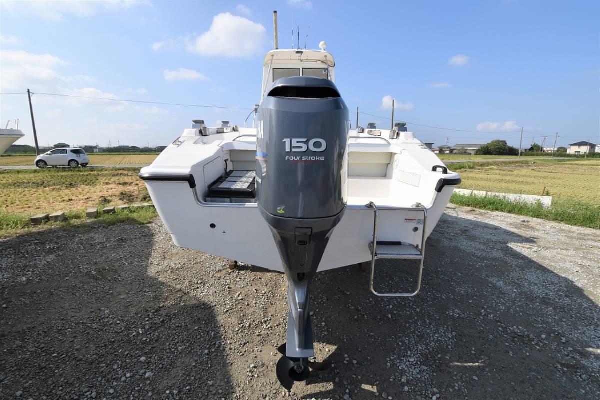 ☆★船屋.com 船底塗装なしの美艇☆★YAMAHA YF-23EX 4st 150ps 船外機!!_画像7
