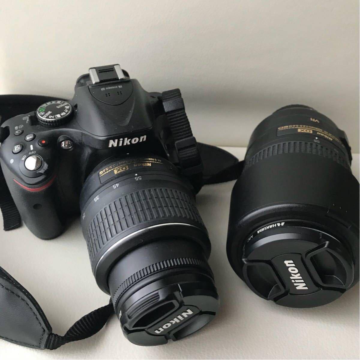 NIKON D5200一眼レフカメラ 望遠レンズ付き