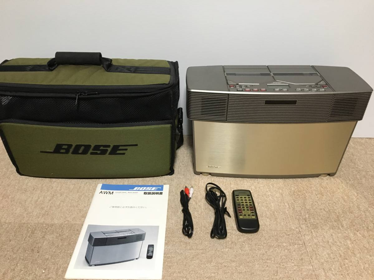 BOSE AWM acoustic Wave music system manual, remote control