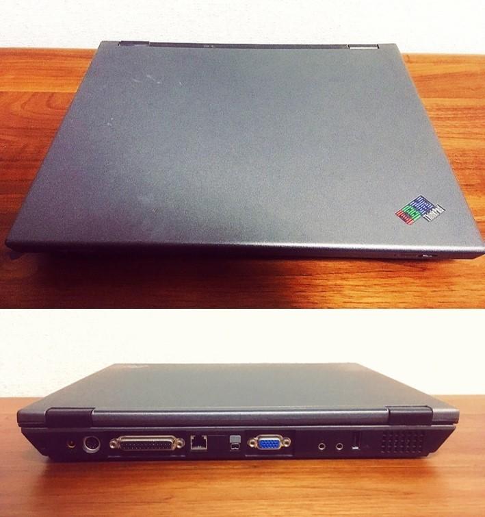 【外観美品】 IBM thinkpad i Series 1200 1161・264 【初期化済・現状品・CD付属なし】_画像6
