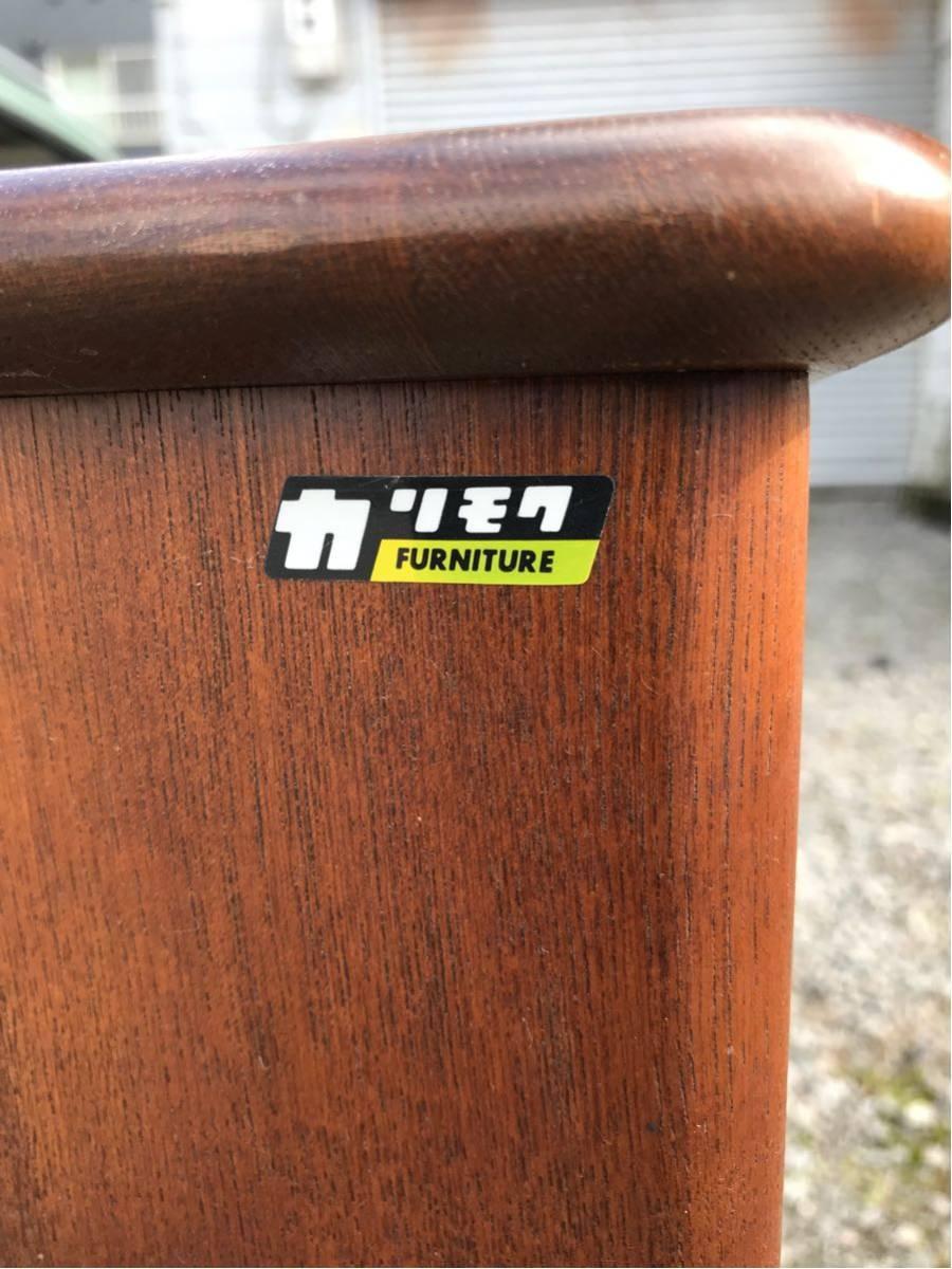オールドカリモク 昭和レトロ アンティーク 木製下駄箱 棚 札幌手渡し可能_画像3