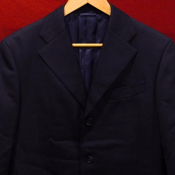 BEAMS ビームス デザイン 3ボタン 厚手 ブレザー テーラード ジャケット 紺 M 美品_画像4