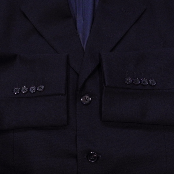 BEAMS ビームス デザイン 3ボタン 厚手 ブレザー テーラード ジャケット 紺 M 美品_画像5