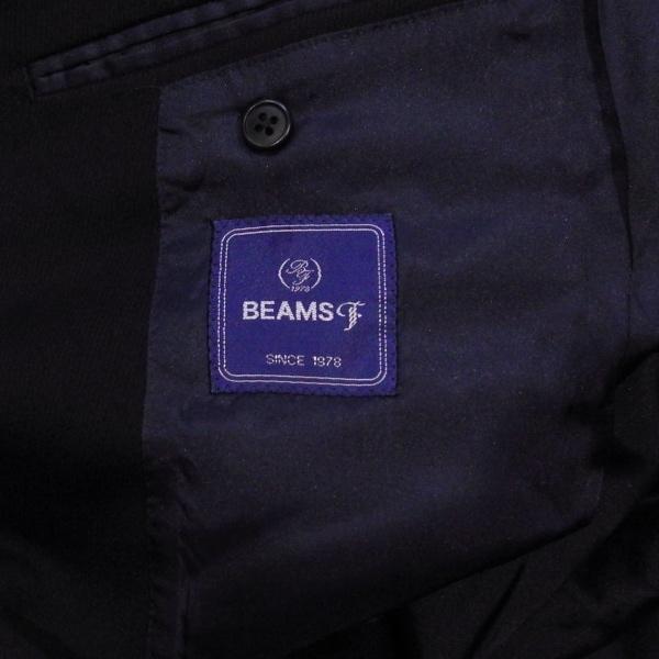 BEAMS ビームス デザイン 3ボタン 厚手 ブレザー テーラード ジャケット 紺 M 美品_画像6