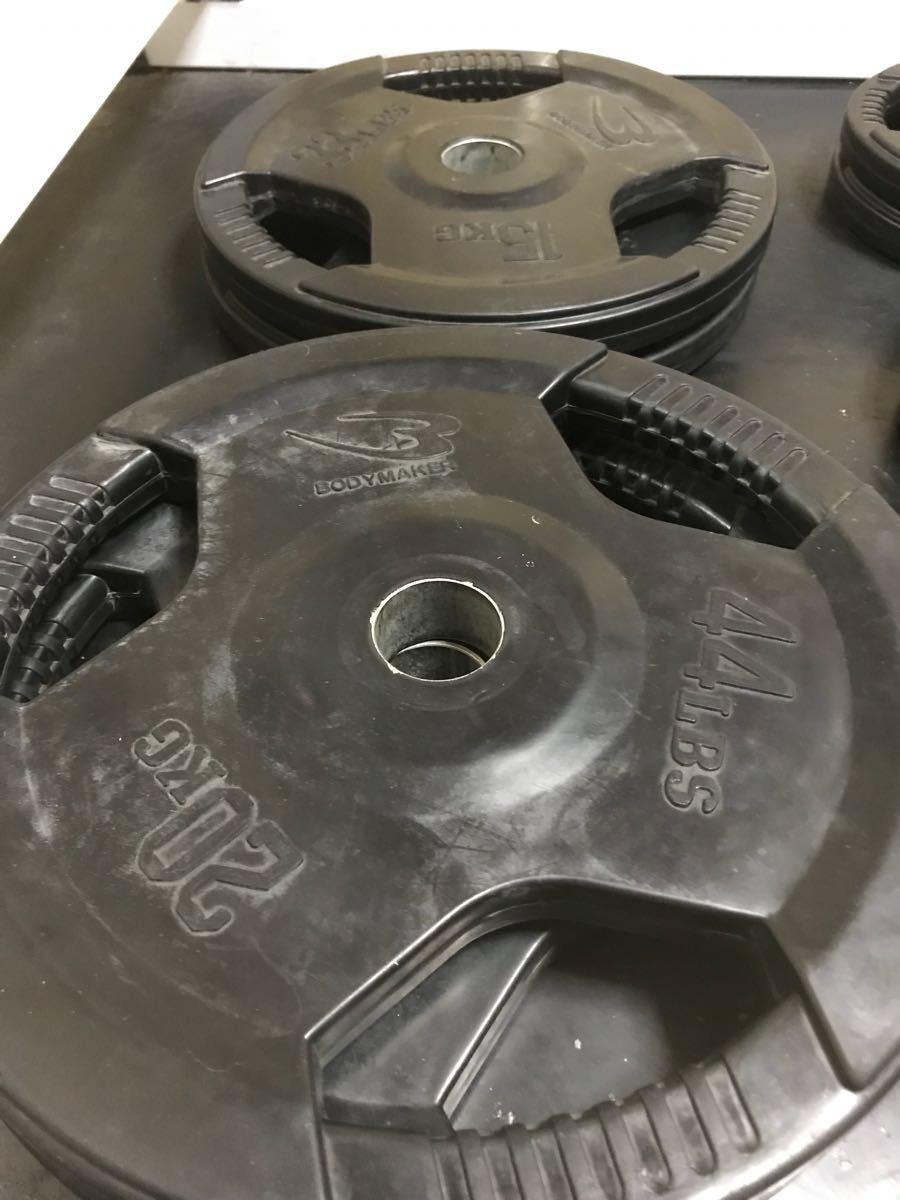 BODYMAKER ボディメーカー オリンピックシャフト用 ラバープレート 125kgセット_画像5