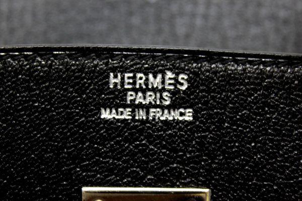 ■新品同様 極上品 超美品 エルメス Herms バーキン35 シェーブル コロマンデル ハンドバッグ 山羊 ブラック 黒 シルバー金具 Z1804_画像9