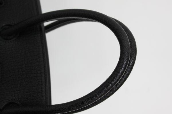 ■新品同様 極上品 超美品 エルメス Herms バーキン35 シェーブル コロマンデル ハンドバッグ 山羊 ブラック 黒 シルバー金具 Z1804_画像5