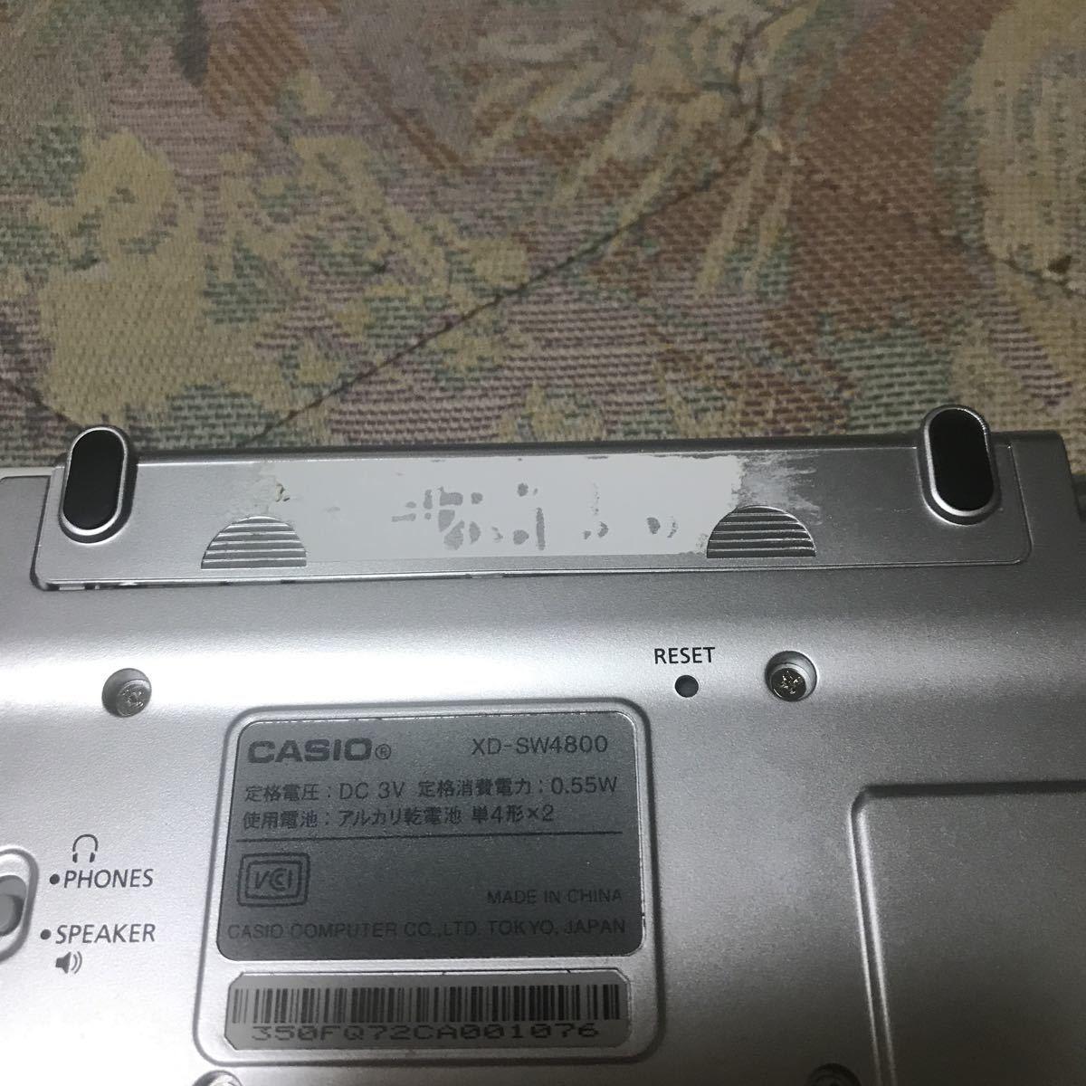 CASIO EX-word DATAPLUS 3 XD-SW4800 タッチペン、イヤホン、ケース付属_画像2