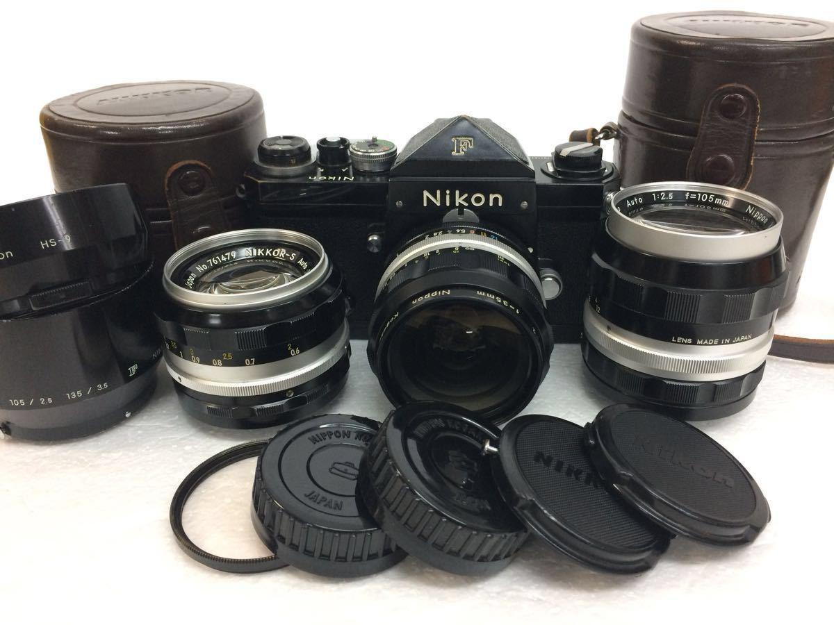カメラ NIKON (ニコン) F レンズ NIKKOR- P 105mm,NIKKOR-S 50mm NIKKOR-O 35mm reref-d 0921