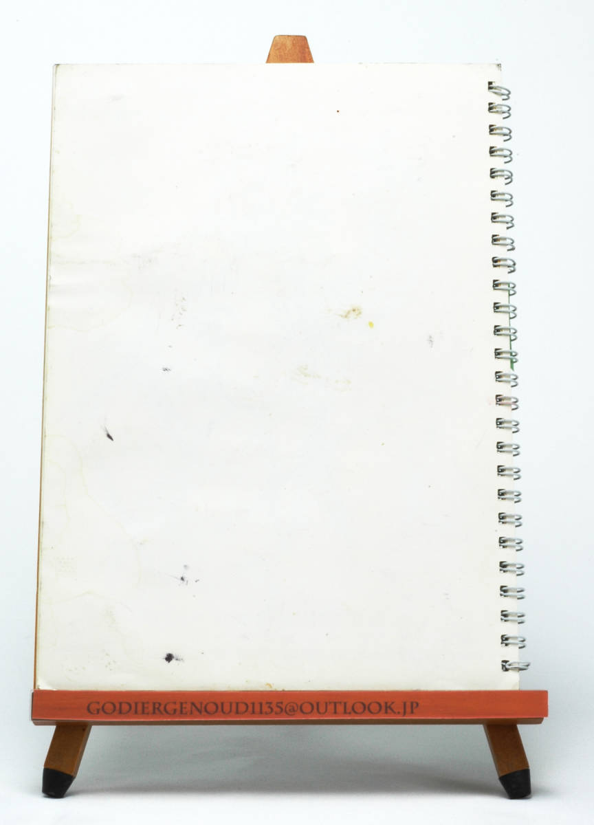 [Delivery Free]2004 -Quiet Country Cafe- 2004 Yokohama Buying Out Trip Notebook Calendar ヨコハマ買い出し紀行 ノート型カレンダー_カレンダー部分裏面に汚れあり。