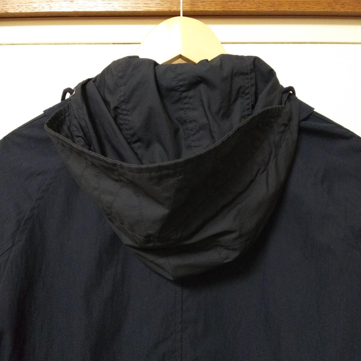 【新品タグ付き】LE JUN ル・ジュン フード付き ステンコート Mサイズ ネイビー 未使用 自宅保管品_画像8
