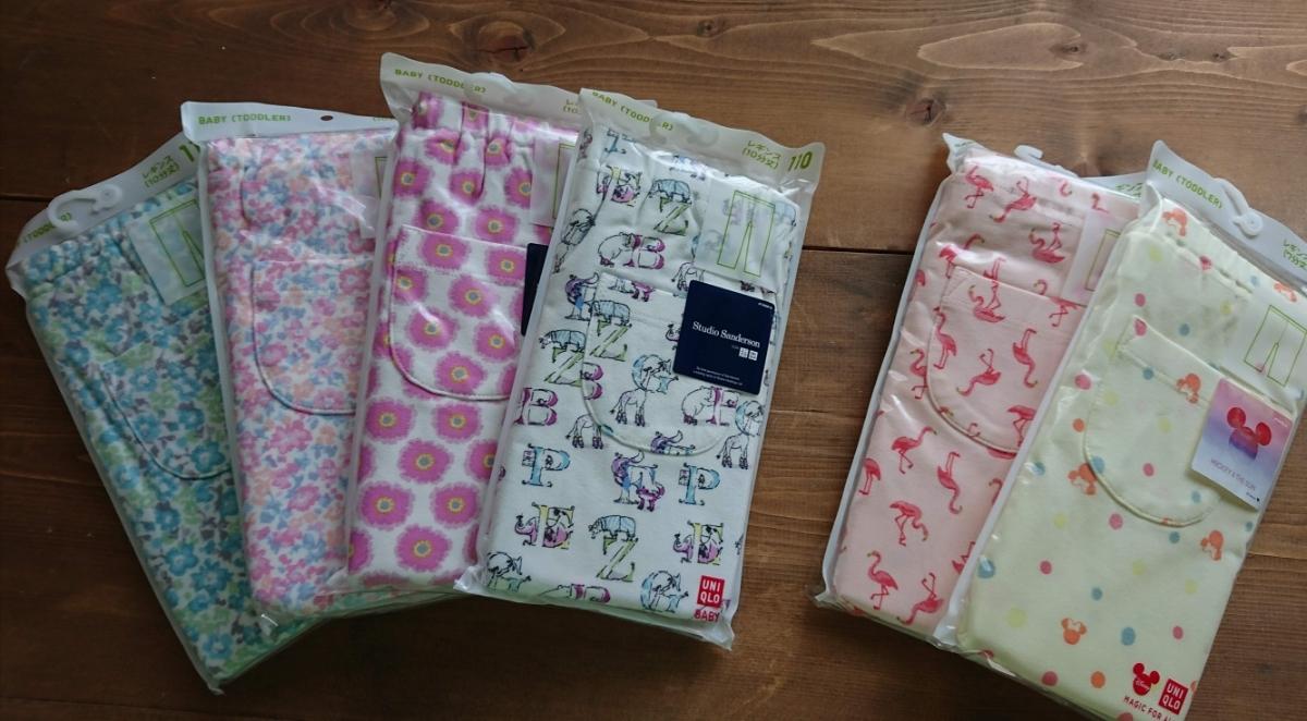完売 スタジオサンダーソン レギンス パンツ ボトムス for Uniqlo☆110ベビー100キッズ ズボン 花模様 ピンク 女の子 即決_他の柄もあります