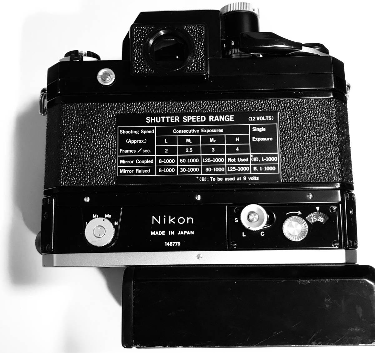 ニコンF FTN モータードライブF-36付き★ブラック★最後期型★キィートスで全てオーバーホール済み_画像5