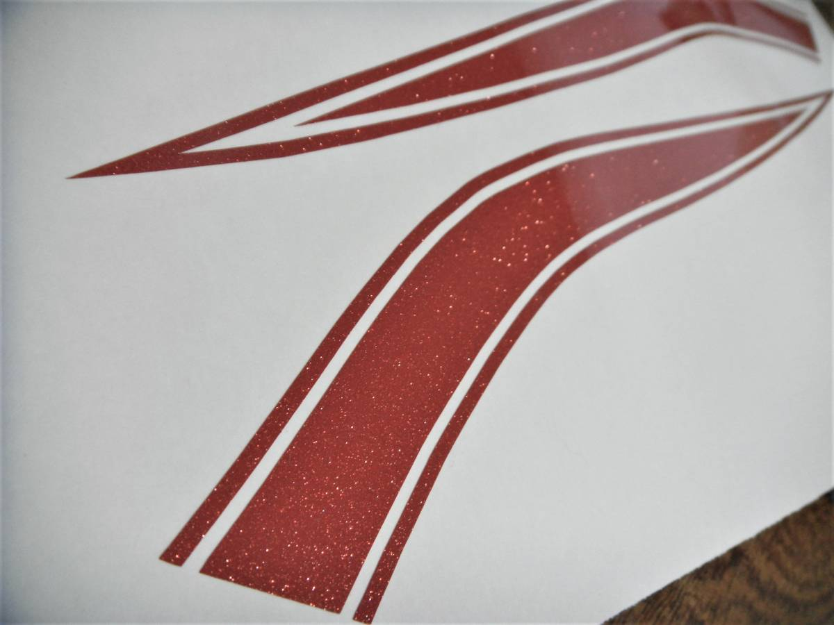 CB400Four NC36 750タイプ タンクラインデカール 1色ラメタイプ レッドラメ(赤ラメ) 色変更可 ゼファーにも! 外装ステッカー_画像2
