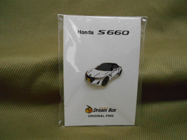 ホンダ ピンズコレクション S660 ホワイト(フロントスタイル) ドリームボックスオリジナル