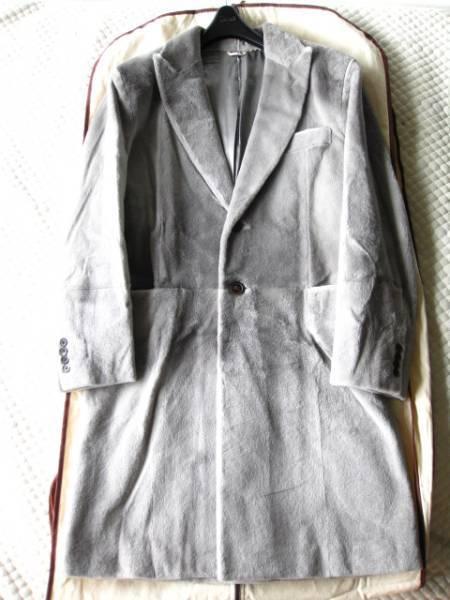 即決 新品同様タグ付 定価500万円以上 HERMESエルメス最高級シェアードミンクファー毛皮ロングコート48サイズ☆グレー 国内直営店購入