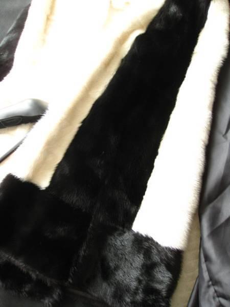 即決 新品タグ付 FENDI フェンディ最高峰バイカラーミンクファー毛皮コート40サイズ☆ハンガー、ガーメントケース付_画像3