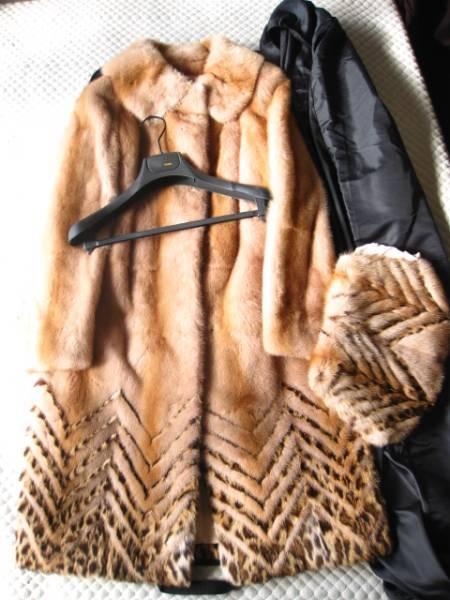 即決 新品同様 ハンガー、ガーメントケース付 FENDI フェンディ最高級ミンクファー毛皮コート40サイズ_画像1