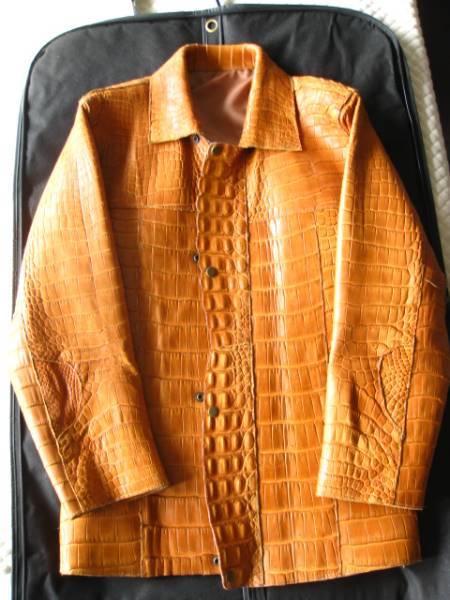 即決 定価500万円以上 最高級 腑の美しい総マットクロコダイル レザージャケット☆ワニ