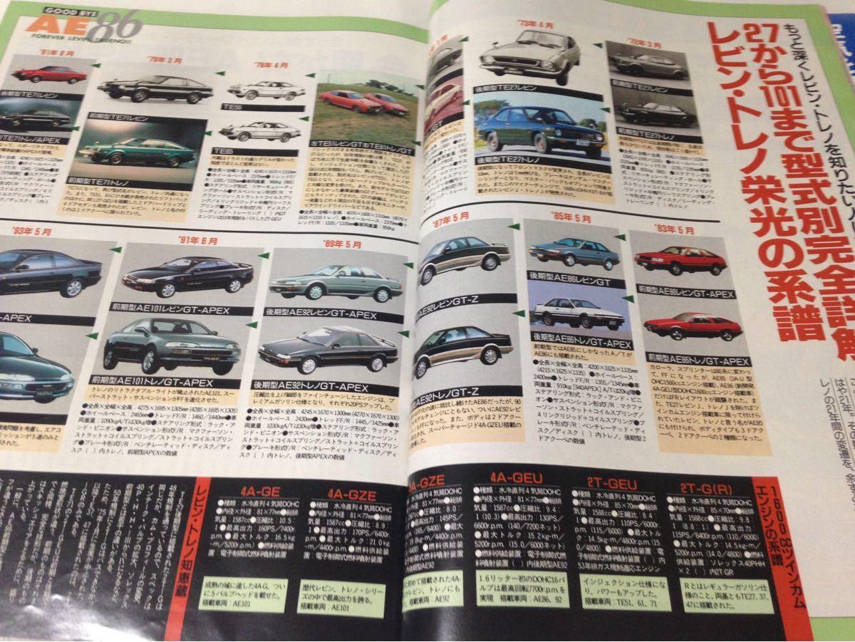 J's Tipo No.7 トヨタ ハチロク AE86 レビン トレノ 1993年7月 ジェイズ ティーポ_画像5