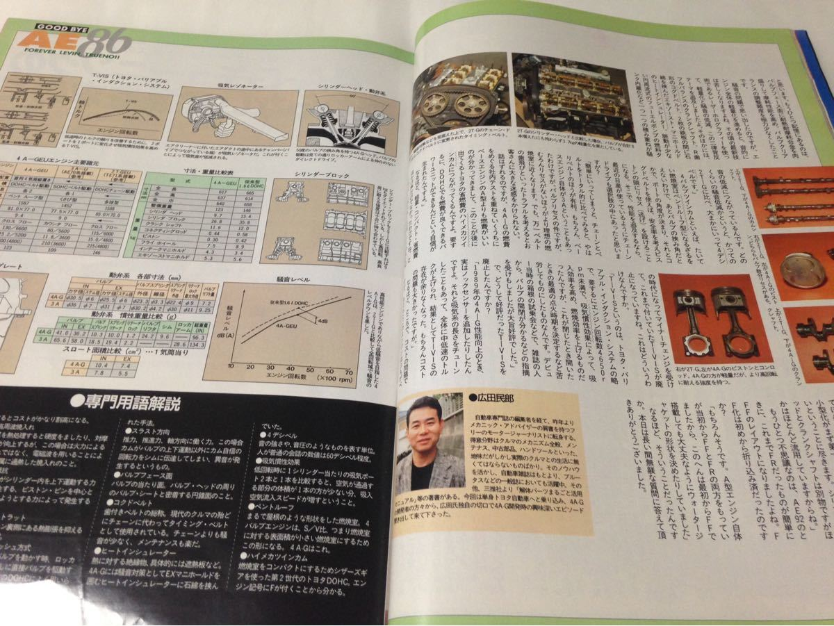 J's Tipo No.7 トヨタ ハチロク AE86 レビン トレノ 1993年7月 ジェイズ ティーポ_画像6