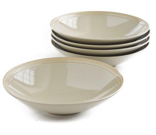 4枚セット■リンドスタイメスト■ 艶やかな  グレーベージュ  サラダボウル パスタ皿  カレー皿■ カラー食器  L-GB-SAB-21-4S_4枚セットです