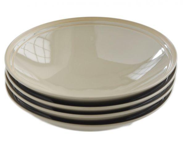 4枚セット■リンドスタイメスト■ 艶やかな  グレーベージュ  サラダボウル パスタ皿  カレー皿■ カラー食器  L-GB-SAB-21-4S_画像2