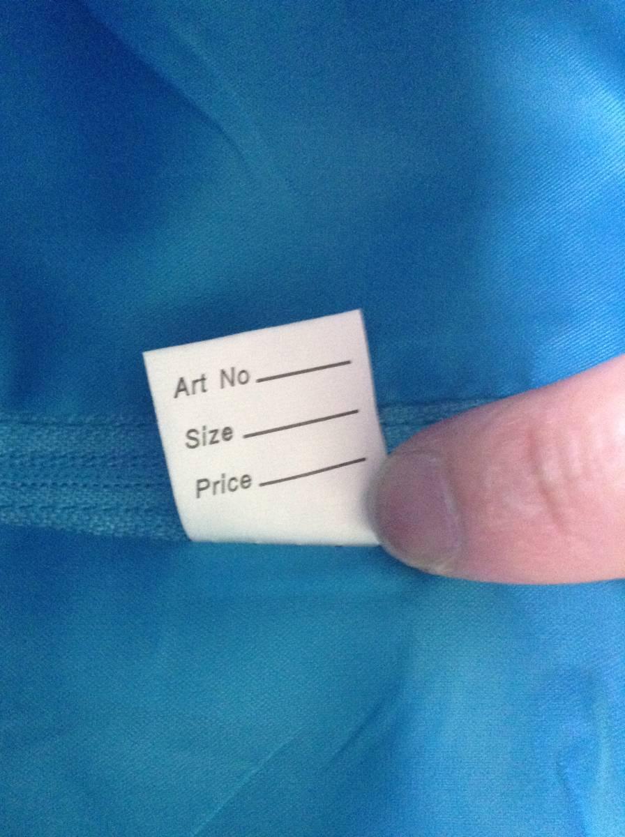 女の子用 ブルー(青色)のドレス(発表会向け) 130-135 未使用 試着のみ ひらひら かわいい リボン_画像8