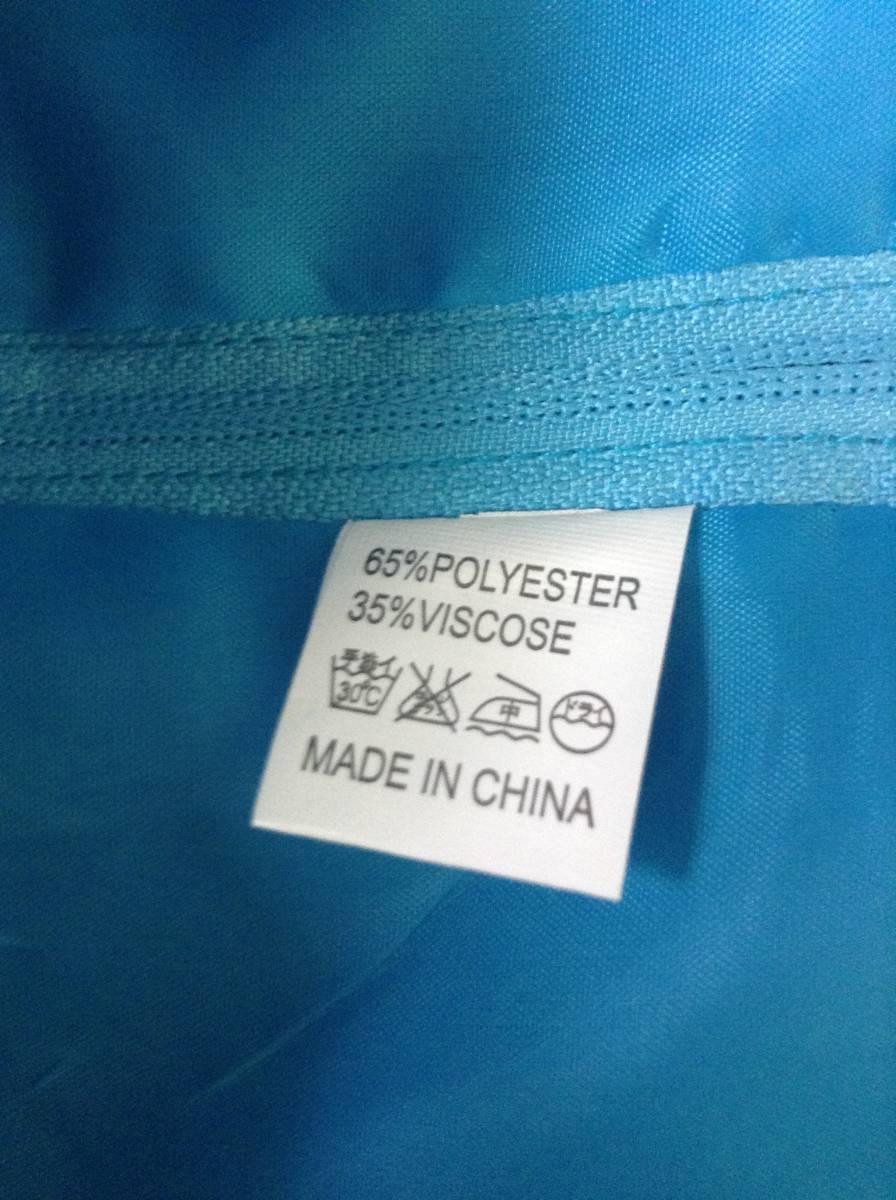 女の子用 ブルー(青色)のドレス(発表会向け) 130-135 未使用 試着のみ ひらひら かわいい リボン_画像7